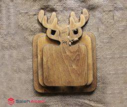 فروش عمده تخته سرو چوبی طرح گوزن