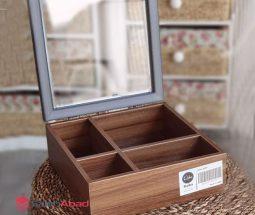فروش عمده جعبه تی بگ ۴ خانه چوبی