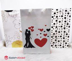 فروش عمده ساک دستی کادو طرح عاشقانه