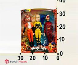 فروش عمده عروسک دختر کفشدوزکی ۳ عددی
