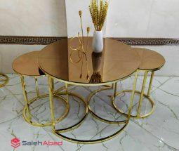 فروش عمده میز عسلی ۳ تایی مدل آینه ای