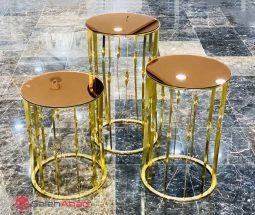 فروش عمده میز عسلی آینه ای پایه فلزی