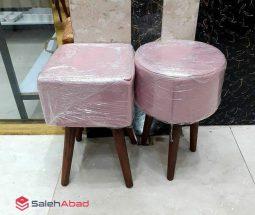 فروش عمده صندلی پاف پایه دار رنگی