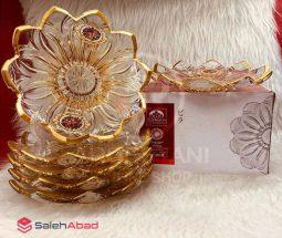 فروش عمده پیش دستی طرح لب طلایی ورسای