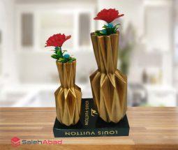 فروش عمده گلدان پلی استری دو سایز